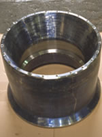 Large clamp collet before splitting