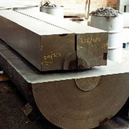 Square sections cut from round billet