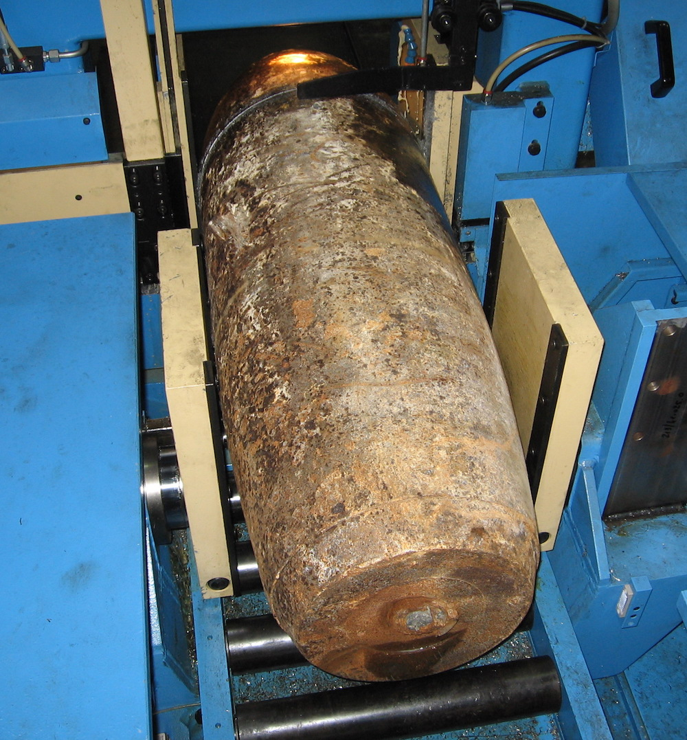 1000lb concrete test bomb cutting 7