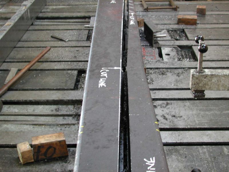 Manganese steel beam fracture point...