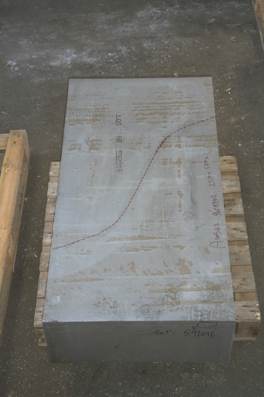 Blank block prior to profiling with Accurates sawing service